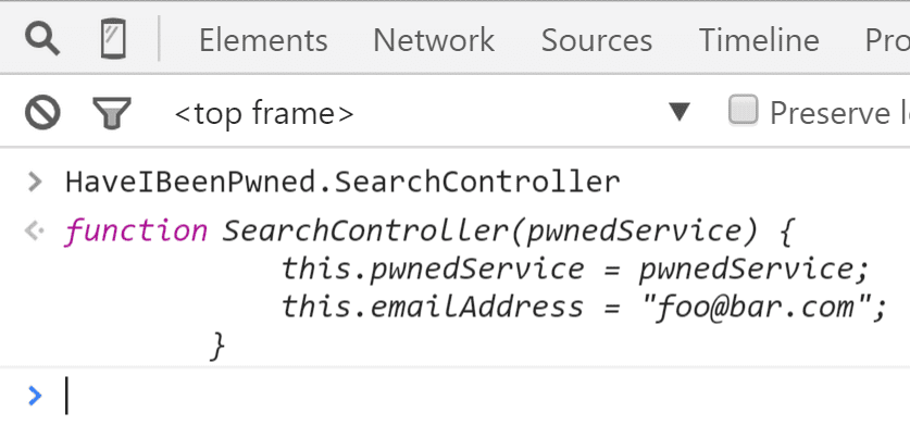 SearchController Is Accessible